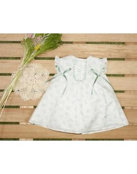 Vestido flores blanco y verde Altamira