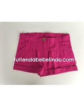 Pantalón corto niña rosa