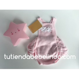 Pelele hilo niña rosa flores