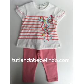 Conjunto leggins rosa