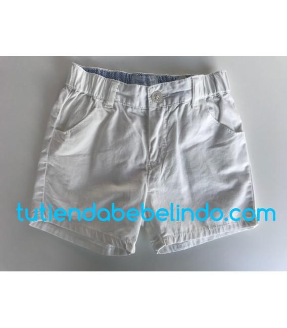 Pantalón corto niño blanco