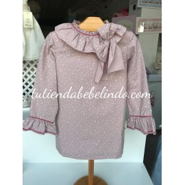 Vestido estrellas rosa Artesanía Manolita