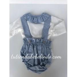 Conjunto ranita con camisa Artesanía Manolita