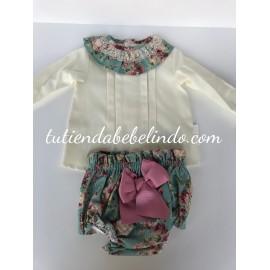 Conjunto camisa y braguita Artesanía Manolita