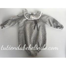Pelele silver con cuello gris Tartaleta