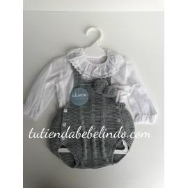 Conjunto ranita con camisa y pompones