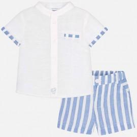 Conjunto niño camisa y pantalón corto Mayoral