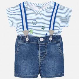 Conjunto camiseta y pantalón con tirantes Mayoral