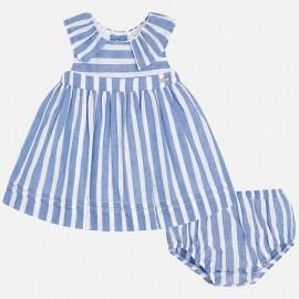 Vestido rayas azules con braguita Mayoral