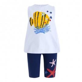 Conjuno camiseta y leggins niña Arrecife de Coral Tuc tuc
