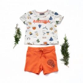 Conjunto niño pantalón corto  y camiseta Bbari Canada House
