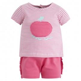 Conjunto niña camiseta y pantalón corto Minipoma Canada House