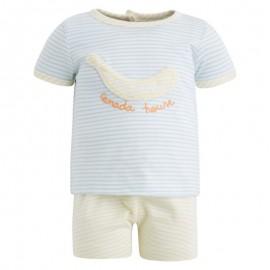 Conjunto bebé camiseta y pantalón corto Minifrog Canada House