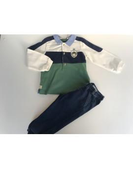 Conjunto polo y pantalón