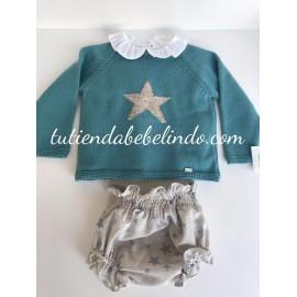 Conjunto bebé 3 piezas Estrella Marta y Paula