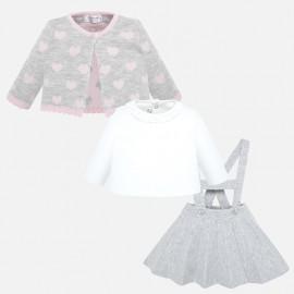 Conjunto falda tirantes y rebeca Mayoral