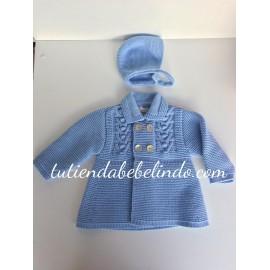 Abrigo con capota Babydif