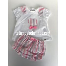 Conjunto bebé camiseta y braguita Mayoral