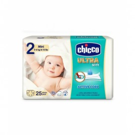 Pañales Ultra Soft Chicco 2 mini 25 uds.