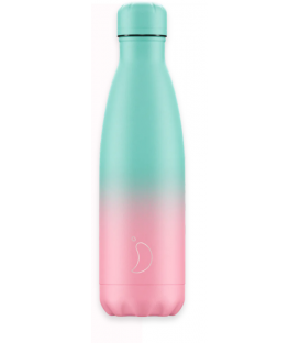 Botella Chillys Gradient Menta y Rosa 500ml