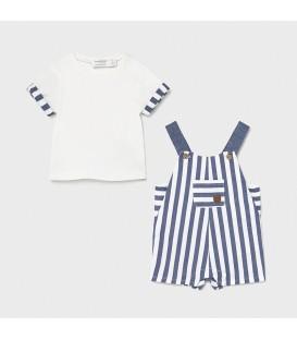 Conjunto peto y camiseta rayas Mayoral