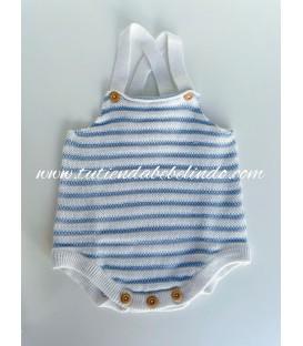 Ranita tricot rayas azules