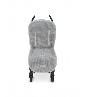 Funda silla universal y reversible Vichy Gris/beig Uzturre