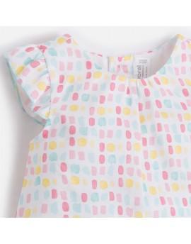 Conjunto blusón y tricot