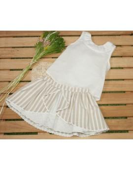 Conjunto niña falda y camisa Ambar